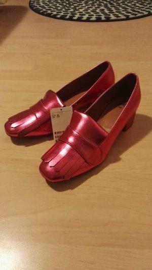 H&M Escarpins rouge framboise-rose fluo