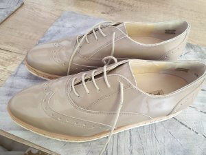 Paul Green Wingtip Shoes oatmeal leather