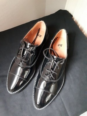 H&M Oxfords black synthetic