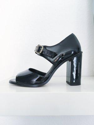 Topshop Backless Pumps black imitation leather