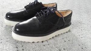Zara Chaussures à lacets bleu foncé