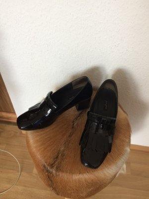 Paul Green Loafers donkerblauw Leer