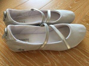 LACOSTE Ballerina, silberfarben, Gr. 41, sehr guter Zustand