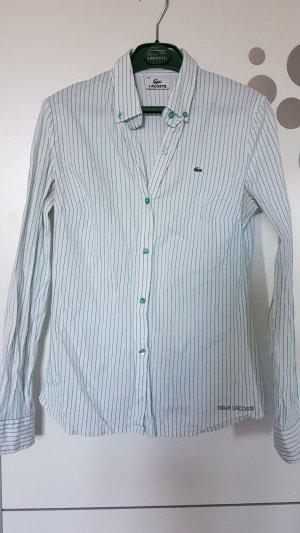 Lacoste Bluse mit grünen Streifen, Gr 36