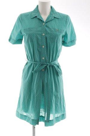 Lacoste Blusenkleid kadettblau-weiß Punktemuster Casual-Look