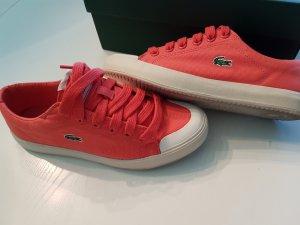 Lacoste Canvas Sneaker L33 Gr 40 korallfarbend