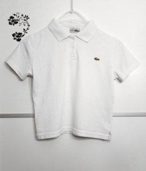 Lacoste Cropped Poloshirt Kurz Weiß Gr. 38