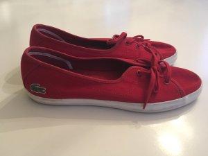 Lacoste Damensneakers rot einmal getragen Neupreis 80€