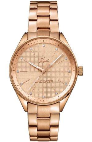Lacoste Reloj con pulsera metálica color rosa dorado