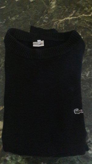 Lacoste Pull en laine noir tissu mixte