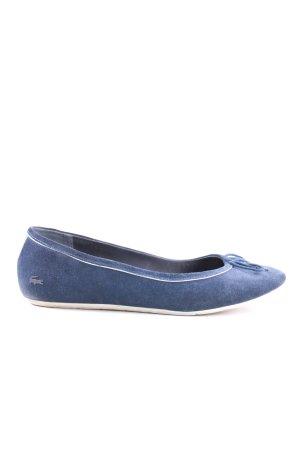 Lacoste faltbare Ballerinas blau Casual-Look