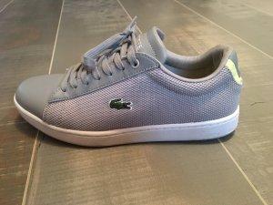 Lacoste Halbschuhe Sneaker grau gelb Gr. 37