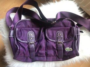 Lacoste Handtasche lila sehr guter Zustand