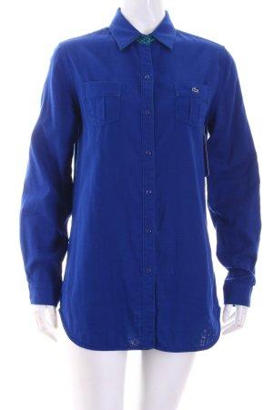 Lacoste Hemd-Bluse blau klassischer Stil