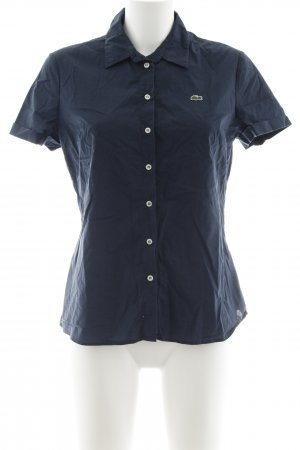 Lacoste Short Sleeve Shirt dark blue casual look