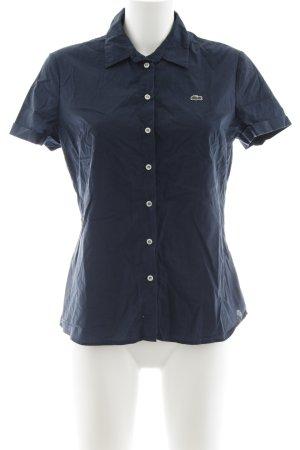 Lacoste Shirt met korte mouwen donkerblauw casual uitstraling