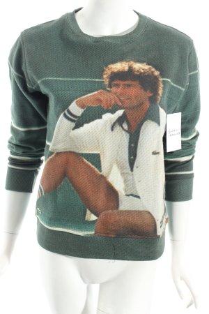 Lacoste L!VE Sweatshirt vert forêt style athlétique