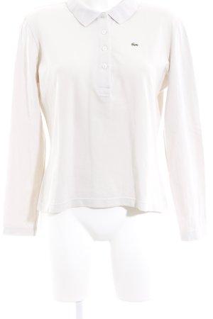 Lacoste Langarm-Bluse creme schlichter Stil