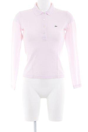 Lacoste Langarm-Bluse hellrosa sportlicher Stil
