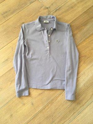 Lacoste Langarm Poloshirt flieder Gr. XS