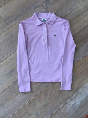 Lacoste Langarm Poloshirt rosa Gr. XS