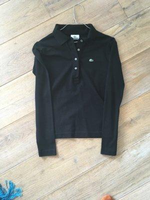 Lacoste Langarm Poloshirt, schwarz Gr. 34