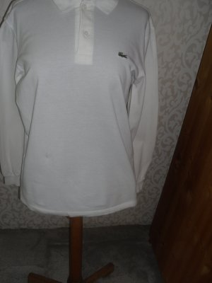 Lacoste Langarm-Poloshirt weiß Größe 4