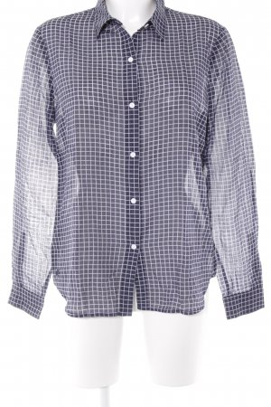 Lacoste Langarmhemd dunkelblau-weiß Karomuster Business-Look