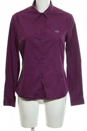 Lacoste Langarmhemd violett Business-Look