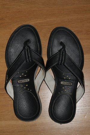 Lacoste Leder-Sandalen, Gr.38, dunkelblau