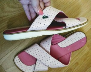 Truman's Comfort Sandals natural white-pink leather