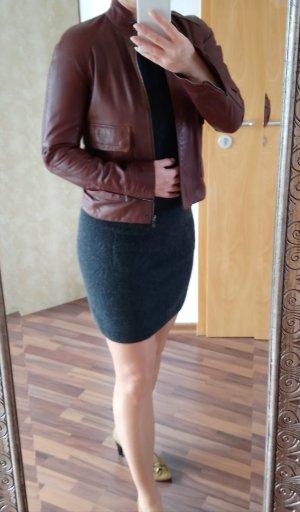 Lacoste Leather Jacket brown-dark brown