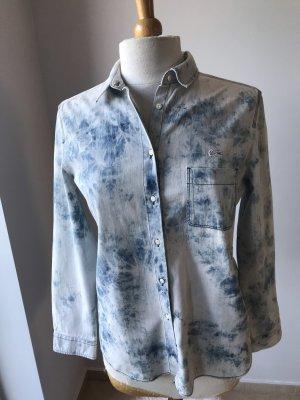 Lacoste Camicia denim azzurro-blu acciaio
