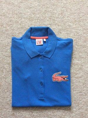 Lacoste L!VE Camiseta tipo polo azul-salmón