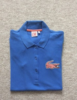 Lacoste Top Polo bleuet-saumon