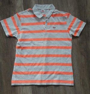 Lacoste Live Polo Poloshirt Pikee Streifen Neon Shirt S