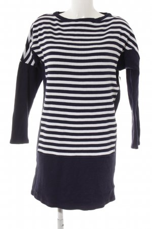 Lacoste Long Sweater dark blue-white striped pattern casual look