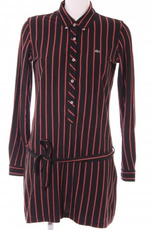Lacoste Long Shirt black-red striped pattern casual look