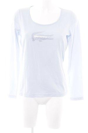 Lacoste Longsleeve babyblau Casual-Look