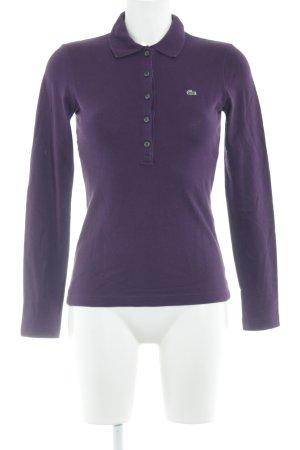 Lacoste Longsleeve purpur Casual-Look