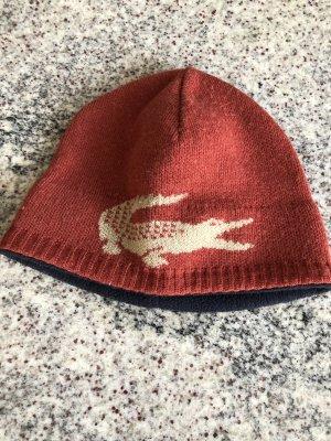 Lacoste Cappello a maglia arancione scuro-bianco
