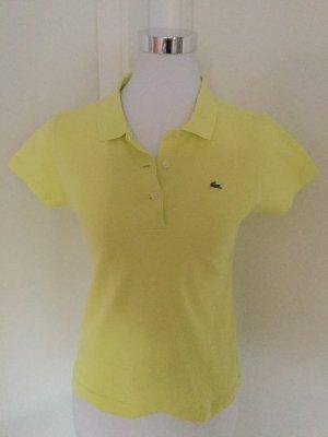 Lacoste neongelbes Poloshirt in Größe 36 für den Sommer