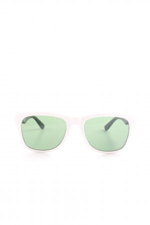 Lacoste ovale Sonnenbrille grün-wollweiß Casual-Look