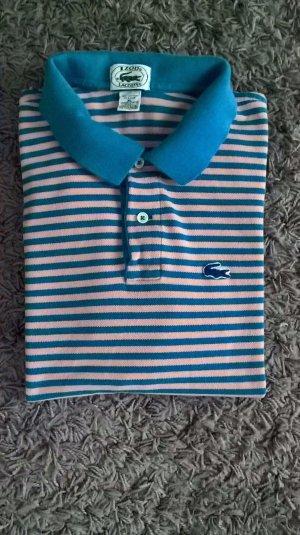 LACOSTE, Pique Polo, Damen T-Shirt, Größe: XL, Hellblau/Rosa