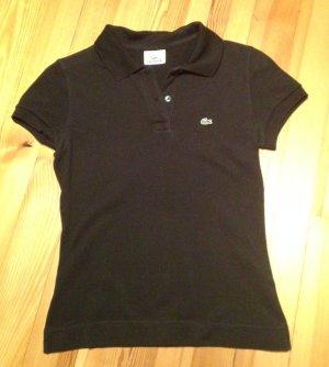 Lacoste Pique Poloshirt schwarz Gr. 36