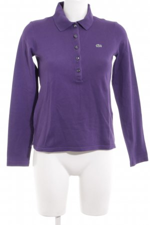 Lacoste Polo shirt lila casual uitstraling