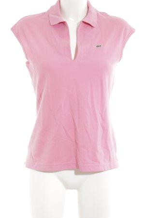 Lacoste Polo shirt roze atletische stijl