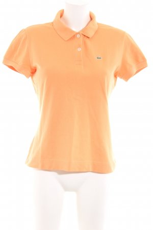 Lacoste Polo shirt licht Oranje casual uitstraling