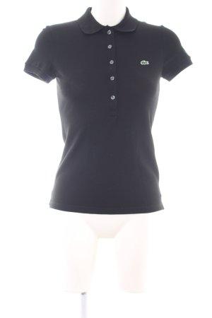 Lacoste Polo-Shirt schwarz schlichter Stil