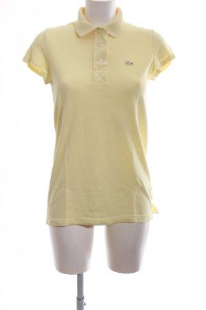 Lacoste Polo-Shirt blassgelb Casual-Look